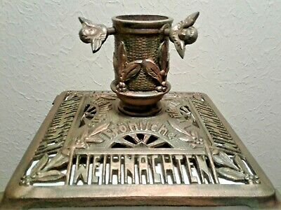 Antique German Christmas Tree Stand, Ornate Cast Iron (Early 20th century/1900s)