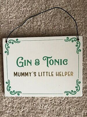 You are the Gin to my Tonic ⭐  Stocking Filler ⭐ Wooden Hanging Quote Plaque