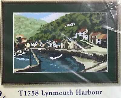 """Tapestry Kit, Lynmouth H16.5"""" x 10.5"""" ( 40.5 x 26.5 cm) on 10 hpi canvas"""