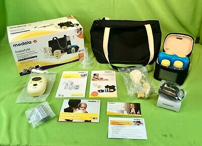 Medela Freestyle Double Electric Breastpump Set Deluxe Used Sterilized 188 88 Picclick