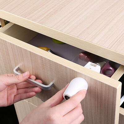 Multifunction Invisible Cupboard White Safety Lock Magnetic Door Easy Install