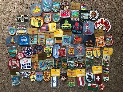 VINTAGE LOT 9 HUMOROUS FUNNY EMBROIDERED PATCHES JOKE