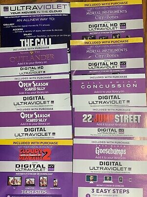 MANY SD & HD Movie CODES Harry Potter HOBBIT X-MEN GHOSTBUSTERS