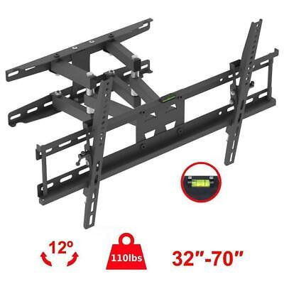 Articulating Full Motion TV Wall Mount Bracket 32 36 43 46 50 55 60 65 70 Inch