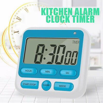 LCD Digital Kitchen Cooking Timer Count-Down Up Clock Loud Alarm Magnetic !