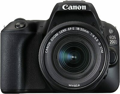 Canon EOS 200D Digital SLR Camera 18-55 IS STM Lens - International Import Model