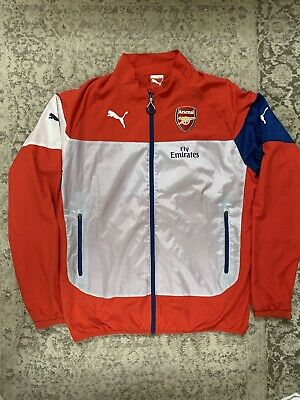 New NIKE ARSENAL Football Player Issue RAIN JACKET Red Currant XXL