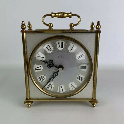Vintage Bentima battery operated vintage brass carriage mantle clock