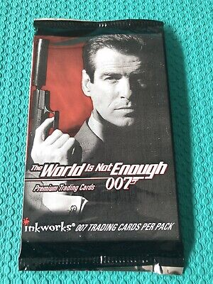 1x The World Is Not Enough-James Bond-Trading Card Pack 007-inkworks-7 Per Pack