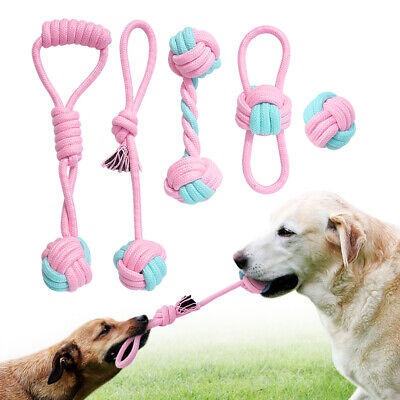 Dog Toys Rope Ball Interactive Tough Chew Play for Aggressive Chewers Free Ship