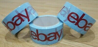 3X Strong Parcel Packing Tape eBay Branded Packaging 66m Long 48mm Wide Blue Red