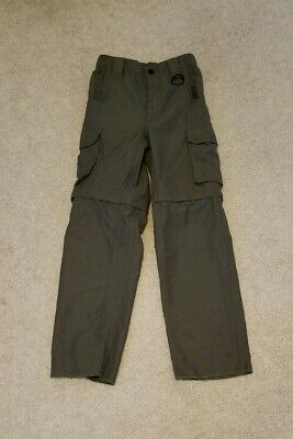 BOY SCOUT SWITCHBACK PANTS CONVERTIBLE ZIP OFF SHORTS UNIFORM BSA OLIVE Small