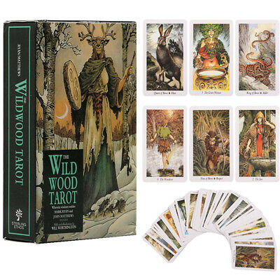 The Wild wood Tarot Oracle Card Deck Antique Vintage Fortune Telling 78 Cards
