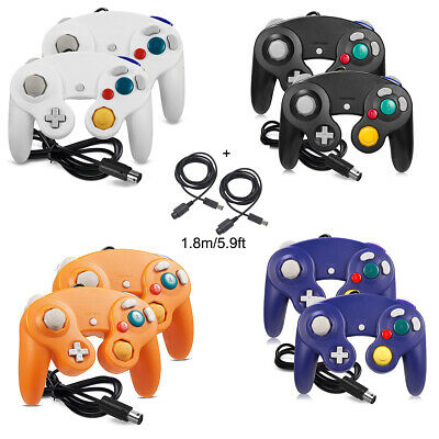 2Pack NGC Classic Wired Controller +2 x 6ft Cable for GameCube & Wii U Console