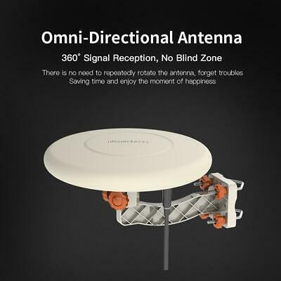 360° Omni-directional Outdoor TV Antenna RV Marine Gain Booster Digital 150 Mile