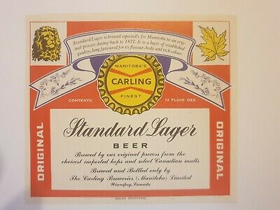 Unused 1960s Foil WASHINGTON Tacoma Carling HEIDELBERG BEER 11oz Label