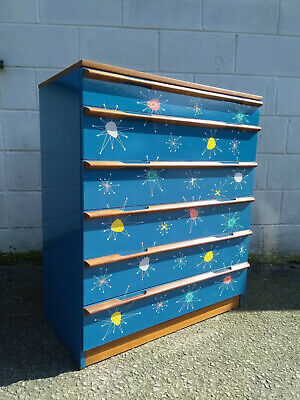 Mid Century fully restored 'Atomic' teak Chest Of Drawers by Avalon