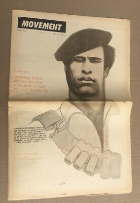 Black Panther Party Newspaper Cover Vietnam Poster v2 12x18