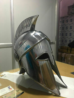 Antique Medieval Steel Corinthian Helmet Silver Armour Greek Corinthian Helmet