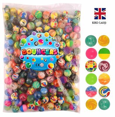 1000 RAINBOW BOUNCY JET BALLS Kids Birthday Party Loot Bag Gifts Toys 27mm