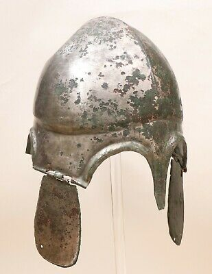 An Ancient Greek Chalcidian Bronze Helmet, Type V, early 4th century B.C.