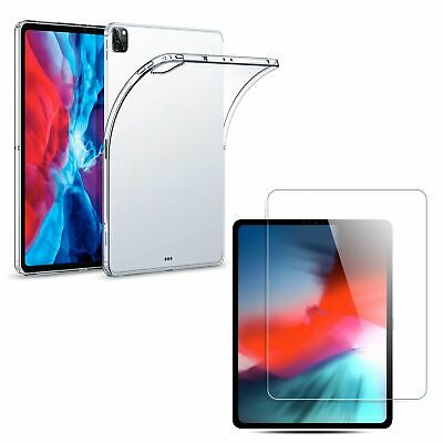 TPU Silicone Coque +Film IPAD Samsung Huawei Tablette Housse Transparent Neuf