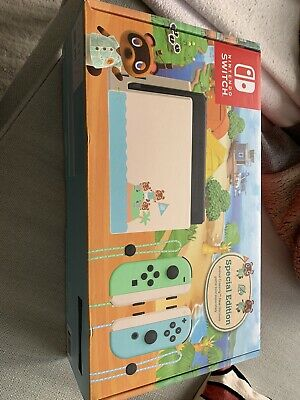 Nintendo Switch Console Animal Crossing Horizons Limited Edition