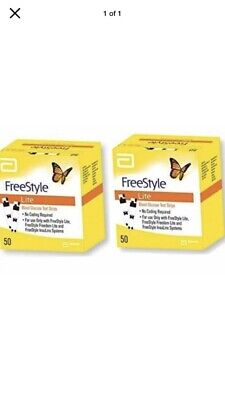 2 x 50 Freestyle Lite blood glucose test strips (100 In Total) 2/2021