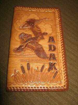 "ADAK Alaska LEATHER Wallet ""DUCK SEASON"" (NEW) Hand-Made"