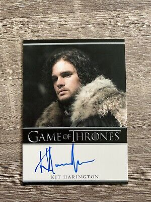 Game of Thrones Season 1 Autograph Card Kit Harington as Jon Snow RAR