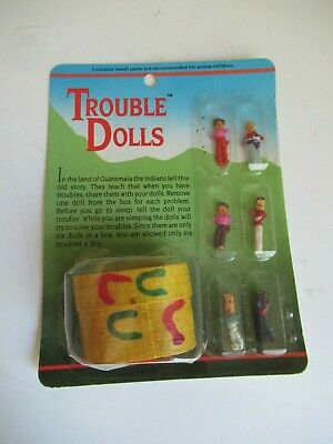 Guatemalan Worry Dolls in a BOX - Hand Made Trouble Doll