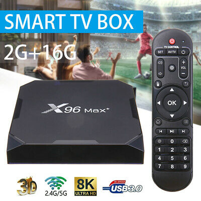 X96 Max Plus Android 9.0 8K TV Box  S905X3 Quad-core 2+16GB WiFi Media Player