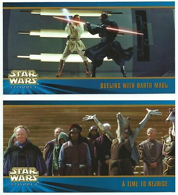 Star Wars Series 1 Widevision Series 2 Two Oversized OS 1 & OS2 Promos Card Set
