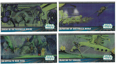 Star Wars Series 1 Widevision Series 2 HC1 - HC4 Chrome Set **** HOBBY ONLY ****