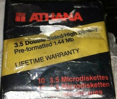 "10-Pack Athana 48-6701 Floppy Disk 3.5"" Double Sized High Density Diskettes"