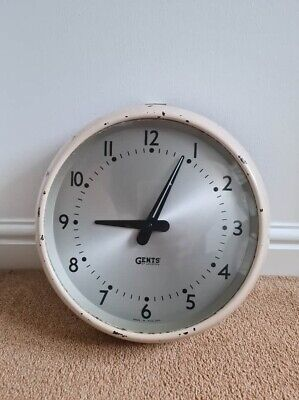 Gents of leicester clock Vintage Antique Industrial Salvage Needs Plug