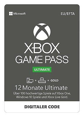 Xbox Game Pass Ultimate 12 Monate Microsoft Store Code Email Lieferung