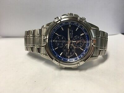 NON-FUNCTIONING // Seiko Men's Stainless Steel Solar Chronograph Watch - SSC141