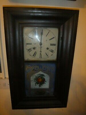 Antique American Chiming Brewster & Co Wall Clock