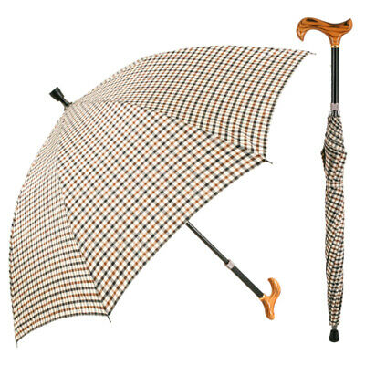 Check Walking Stick Umbrella