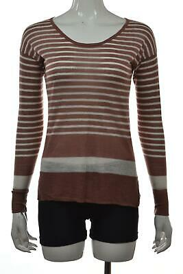 LOFT NEW WHITE Green Womens Size Small S Scoop Neck Striped