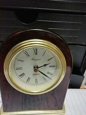 (1535) Small Brown Dome Shape Mantel Peice Clock Quatz Movement Made By Rapport