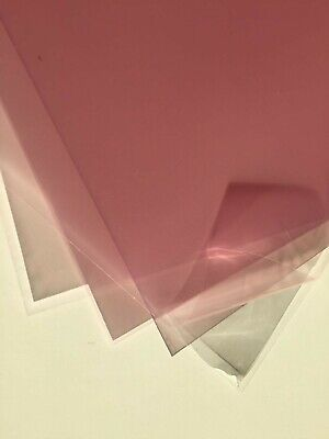 visors thermoforming Clear PET sheet 0.5mm bigger than A4 300 X 230mm APET