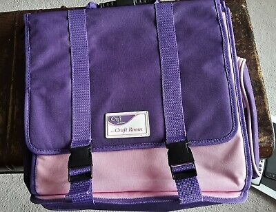 HELIX CRAFT ROOM Purple & Pink CRAFT BAG 7 Compartments FLEXIBLE The Craft Room