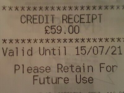 Marks And Spencer Credit Note/Voucher £59