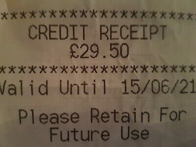 Marks And Spencer Credit Note/Voucher £29.50