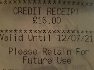 Marks And Spencer Credit Note/Voucher £16