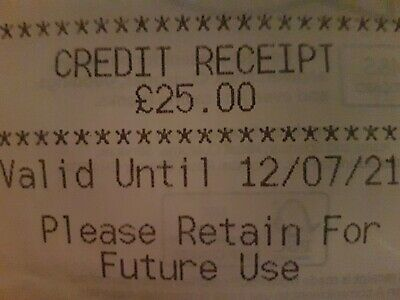 Marks And Spencer Credit Note/Voucher £25