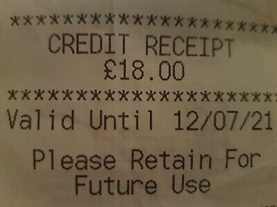 Marks And Spencer Credit Note/Voucher £18