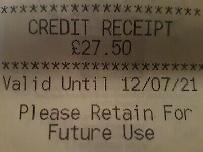 Marks And Spencer Credit Note/Voucher £27.50